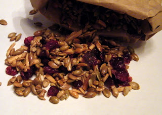 this trail mix made from pumpkin seeds almonds sunflower seeds and ...