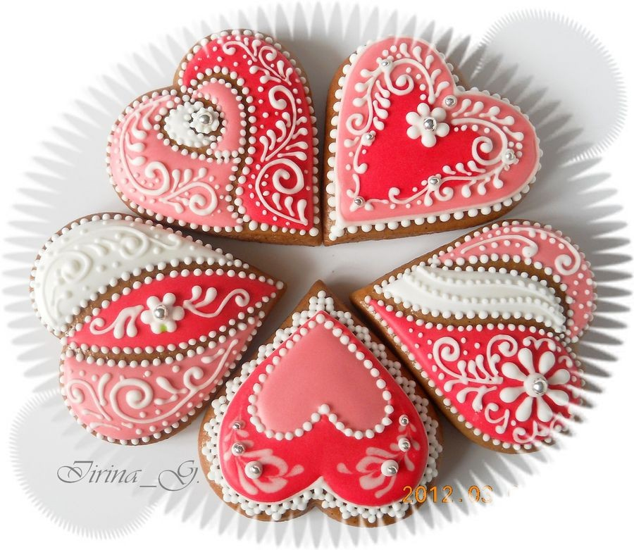 Retro 2014 Valentines Day Chocolate Heart Sugar Cookies With Frosting  Patterns And Silver Sprinkles  F54137 5466242695_37e22e7143_z ...