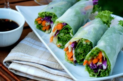 Vegetable Spring Rice Paper Rolls 1 425x283